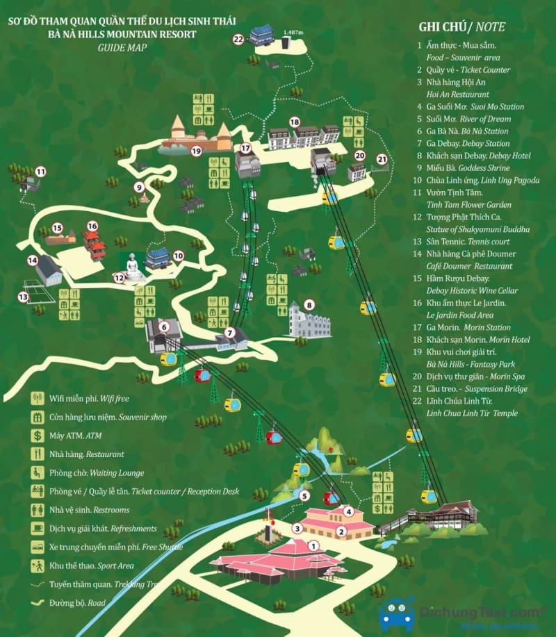 Ba Na Hills Map