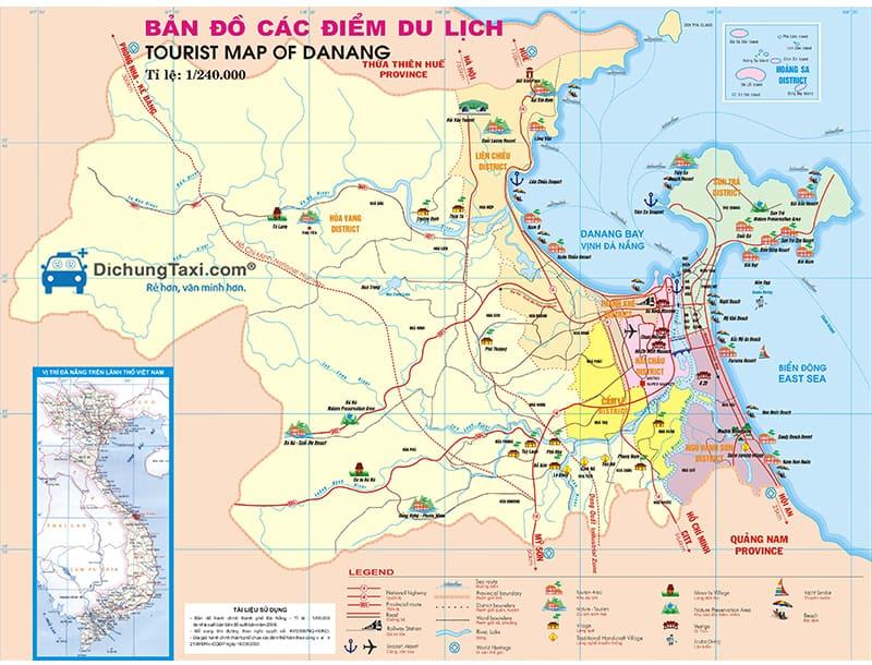 Bản đồ du lịch Đà Nẵng