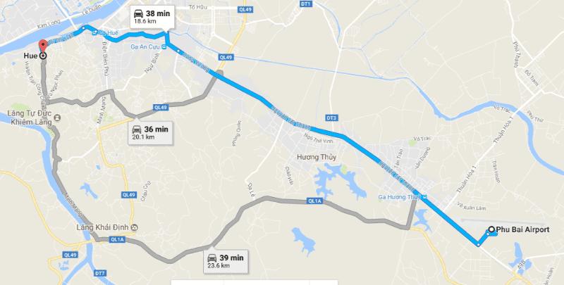From Phu Bai Airport to Hue