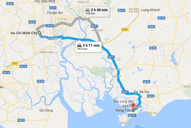 Ho Chi Minh to Vung Tau