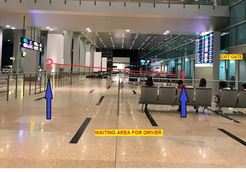 Nhatrang airport driver meeting point for Dichungtaxi airport pickup service