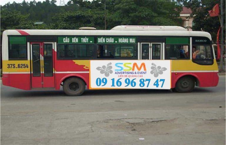 Xe buýt qua sân bay Vinh
